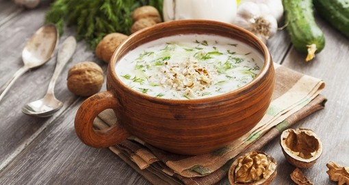 Tarator Bulgarian sour milk soup