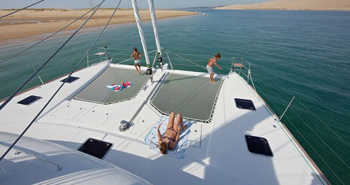 Relaxing on an Archipel Catamaran