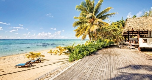 Tamanu Beach is one of your accommodation choices in this Cook Islands vacation package.