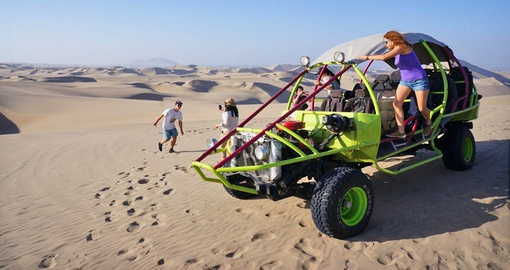 Take a spin in the the desert oasis of Huacachina on your Peru Vacation