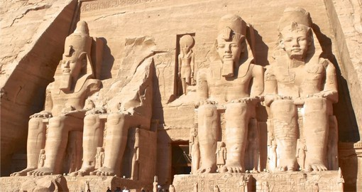 Stop at the Colossus of Ramesses at Abu Simbel during your next Egypt tours.