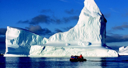 Sail right up to the icebergs on your trip to Agentina