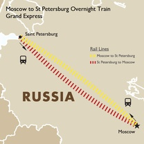 Moscow to St Petersburg Overnight Train - Grand Express