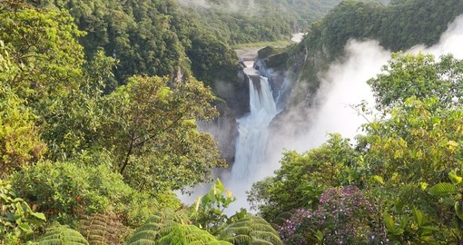 Waterfall in Ecuador