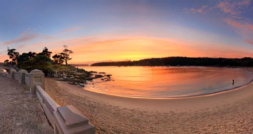 Experience gorgeous view of Balmoral Beach at Sunrise during your next trip to Australia.