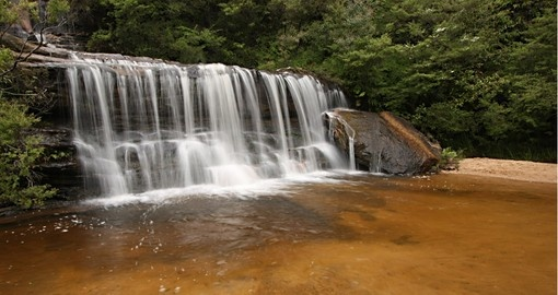 See Wentworth Falls in Blue Mountains National Park during your Australia tour.