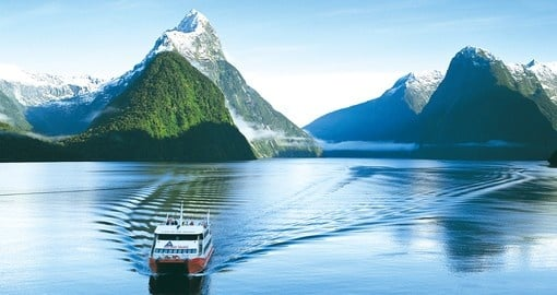 Enjoy a cruise on spectacular Milford Sound