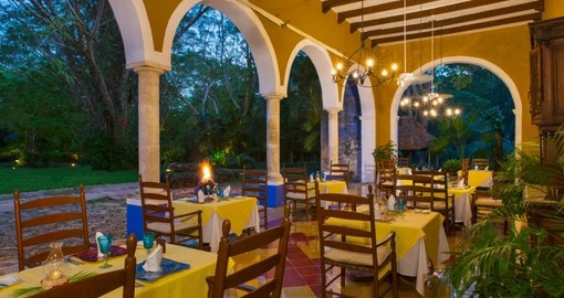 Hacienda San Jose Dining Room
