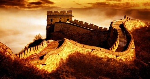 The Great Wall, one of the greatest wonders of the world and a must inclusion on all Asian tours.