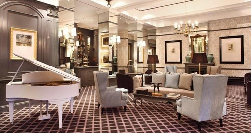 Enjoy the comfortable and luxurious lobby at 54 On Bath in Johannesburg during your South African vacation.