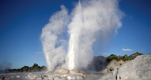 Watch geysers on your New Zealand tour