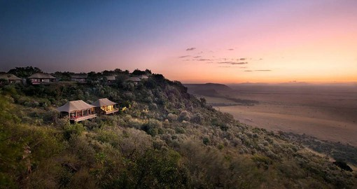 Located on the rim of Africa's Great Rift Valley, Angama Mara overlooks the Masai Mara