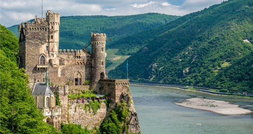 The 65km Rhine Gorge is lined with historic towns, castles and vineyards