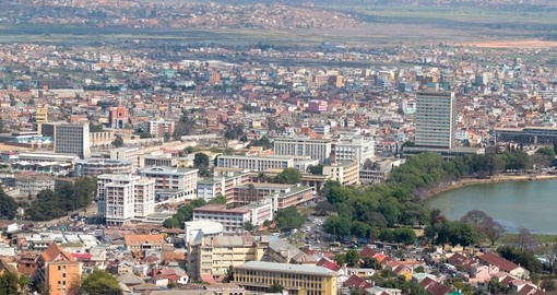 Aerial view of Antananarivo, capital city of Madagasca