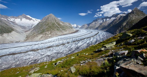 Aletsch Arena, the largest glacier in the Alps