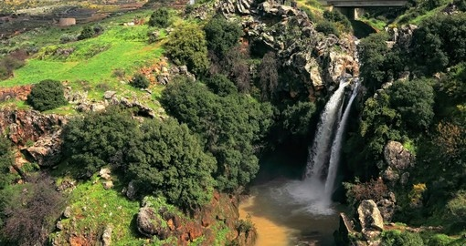 A visit to Banias Falls is a popular inclusion on most Golan Heights tours.