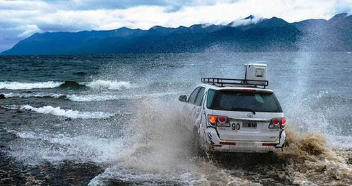 Exploring Patagonia's rugged terrain by 4 x 4