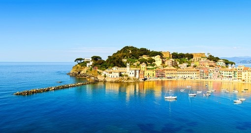 Take a walk on the Baia del Silenzio sea harbor in Levanto during your next trip to Italy.