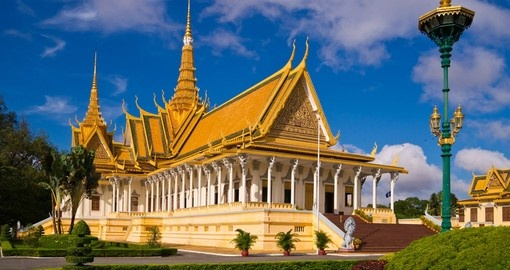 The Royal Palace in Phnom Penh is a great photo opportunity on all Cambodia tours.