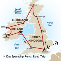 14 Day Spaceship Rental Road Trip