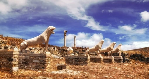 Explore this beautiful city Delos the centre of the Cyclades of the ancient world during your next trip to Greece.