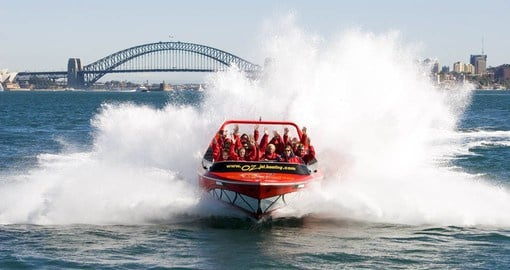 Experience Sydney Harbour on the Oz Jet during your Australia vacation.