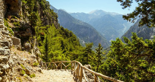 One of Europe's longest canyons, Samaria Gorge is located in Crete's White Mountains