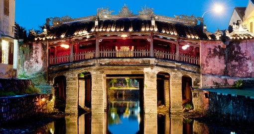 The Japanese bridge of Hoi An is a UNESCO World Heritage Site
