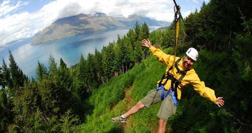 Get a bird's eye view of Queenstown on your New Zealand vacation