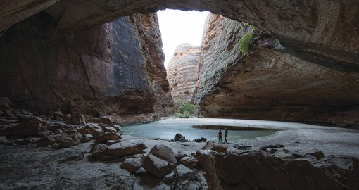 Cathedral Gorge in Purnululu National Park wa image courtesy of Tourism Western Australia