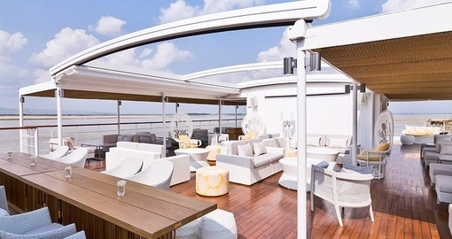 Sun yourself on the luxurious deck