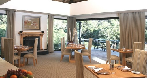Enjoy an amazing dinner after a very busy day  at Shamwari Eagles Crag Lodge on your next South Africa safari.