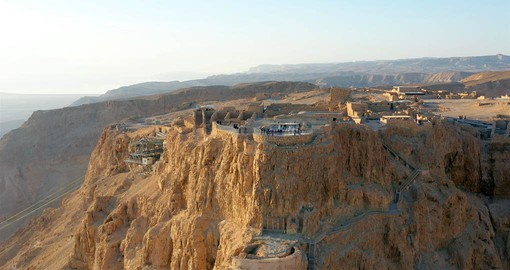 Overlooking the Dead Sea in the Judaean Desert, Masada was the scene of a great siege in 73 AD