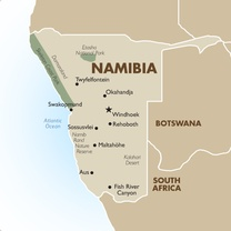 Namibia Country Map