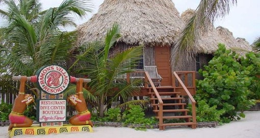 Enjoy all the amenities of Ramons Beach Resort on your next Belize tours.