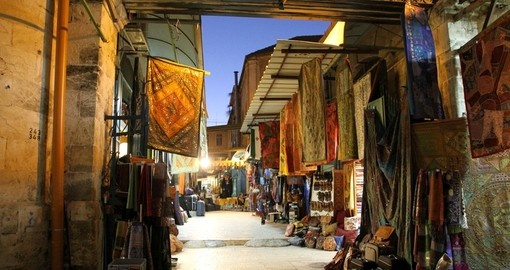 Colorful souks in the old city make for some great photo opportunities on your Israel vacation.