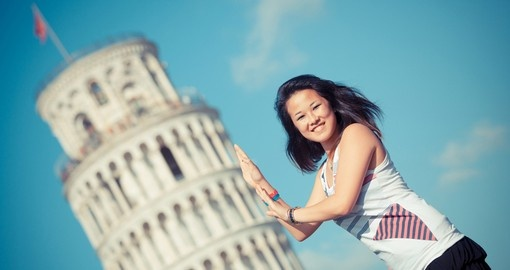Be sure to take a photo of the Leaning Tower of Pisa on your next trip to Italy