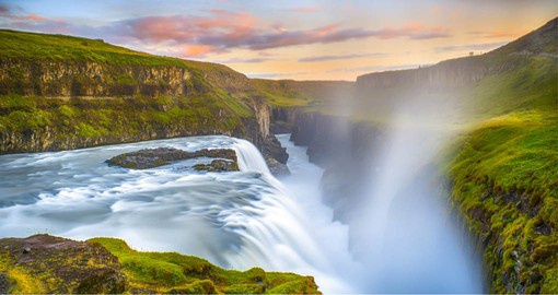 "Gullfoss translated as ""Golden Falls""  is one of Iceland's most iconic and beloved waterfalls"