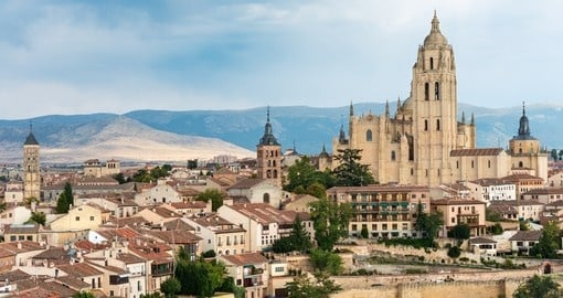 Old wall of the town of Segovia is always a great inclusion on Spain tours