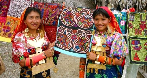 Meet friendly Kuna Indians on your trip to Panama