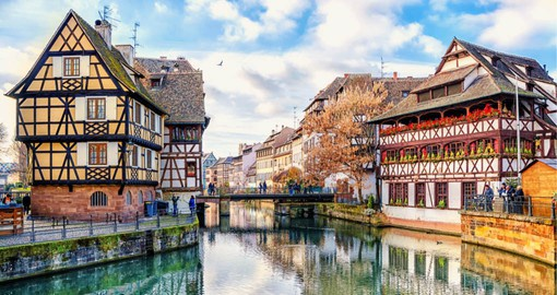 Once a poor section of the city, Strasbourg's Le Petite France is now a highlight of a visit to the Alsatian city