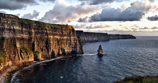 Breathtaking view of the Cliffs of Moher.