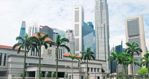 Drive by the Parliament Buildings during your Singapore tour.