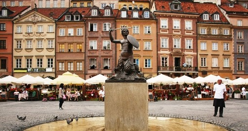 Central Warsaw is the starting point for many of our Warsaw tours.