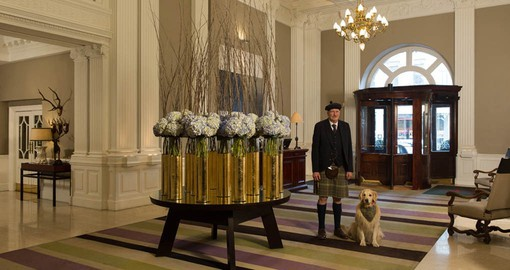 Enjoy warm hospitality at the Balmoral during your trip to Scotland