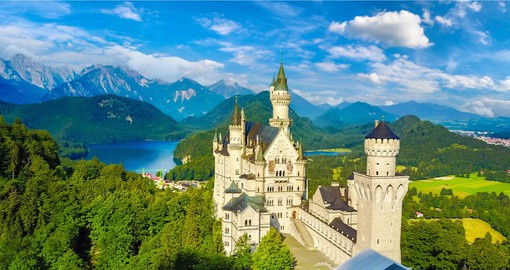 A 19th-century Romanesque Revival Palace, Neuschwanstein was commissioned by Ludwig II of Bavaria