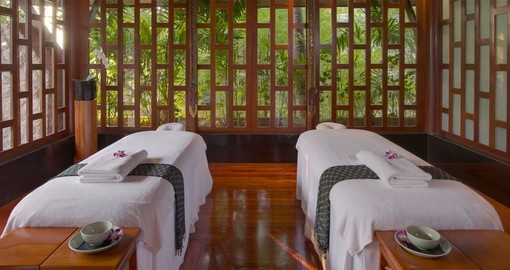 Experience a relaxful massage at the Amanpuri Resort on your Thai Vacation