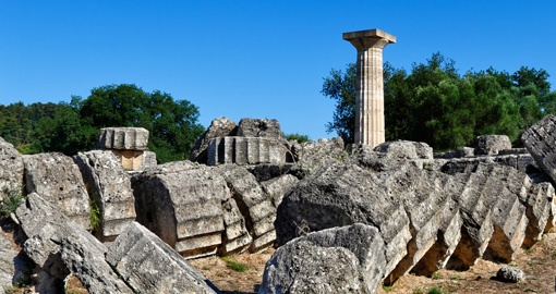 Temple of Zeus Monument, Olympia, Greece