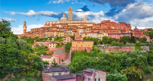 Your trip to Italy features Siena, a beautiful medieval town in Tuscany