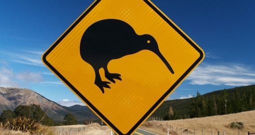 Kiwi roadsign in New Zealand